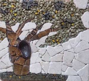 פסיפס אבנים טבעיות וקרמיקה